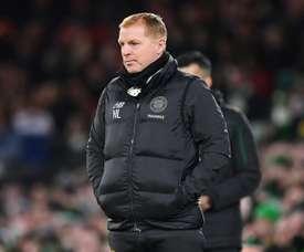 Neil Lennon's Celtic got a hard fought victory over Aberdeen. AFP