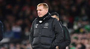 Neil Lennon's Celtic got a hard fought victory over Aberdeen. AFP