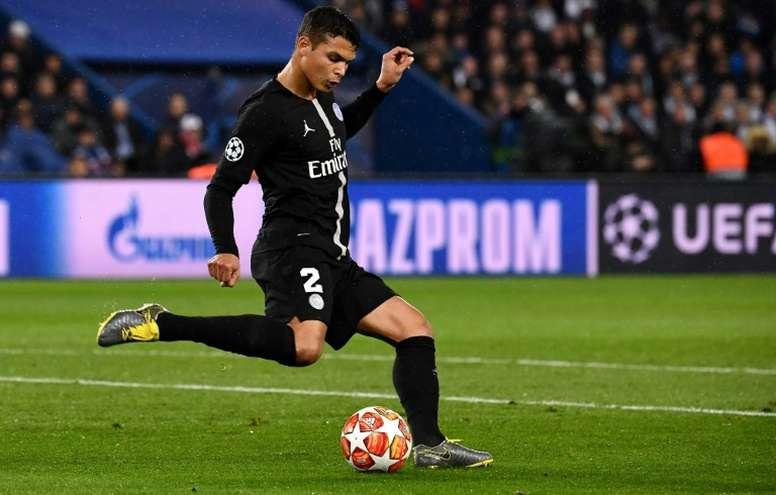 Thiago Silva could complicate things for Barca's Todibo. AFP