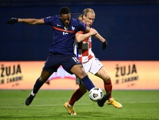 Croatia's Vida informed of Covid-19 positive at half-time of friendly. AFP