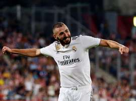 Benzema was in fine form. AFP
