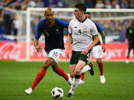Declan Rice is weighing up the decision to switch allegiances to Engalnd. AFP