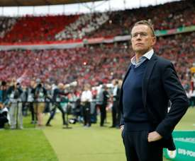 Ralf Rangnick is set to step down as sporting director at RB Leipzig. AFP