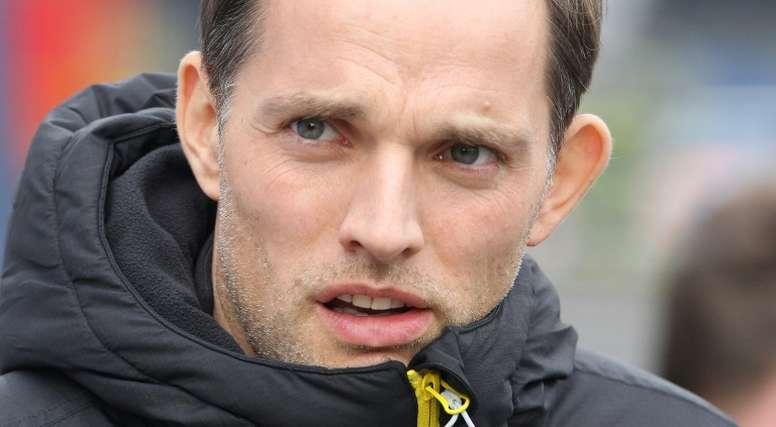 Dortmund's coach Thomas Tuchel is pictured ahead of their Bundesliga match against Darmstadt. AFP