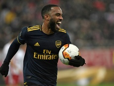 Lacazette has got himself into trouble again. AFP