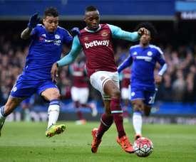 Sakho, sin opciones en el West Ham. AFP