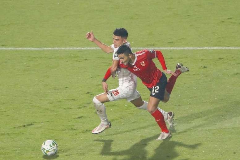 Al Ahly won 2-1. AFP