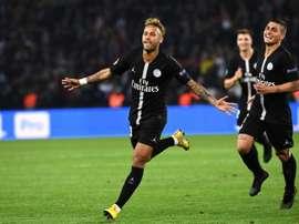 Neymar, protagonista en el Parque de los Príncipes. AFP