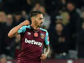 Lanzini has suffered a persistant knee injury this season. AFP