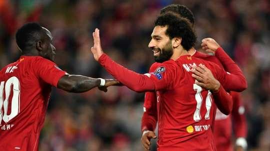 Mo Salah's new goal: reaching Steven Gerrard's numbers. AFP