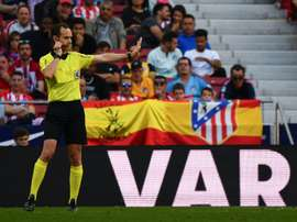 Atletico Madrid survived a VAR review in victory over Valladolid. AFP