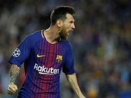 Messi es uno de los futbolistas que más 'hat tricks' ha conseguido. AFP