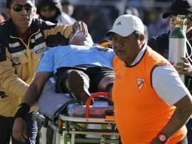 Victor Hugo Hurtado died while refereeing a game at over 4000m above sea level. AFP
