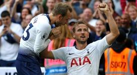 O Tottenham bateu o Fulham por 3-1. AFP