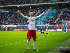 Werner sentenció el partido ante el Köln. AFP