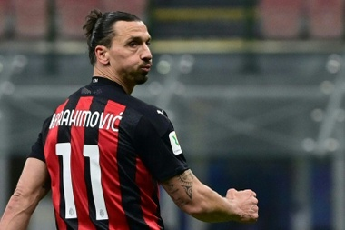 AC Milan forward Zlatan Ibrahimovic. AFP