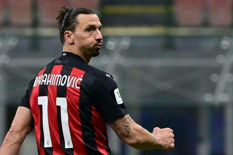 El Milan, en los cuartos de la Coppa. AFP