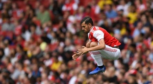 Dani Ceballos made his Arsenal debut but was overshadowed by another substitute, Moussa Dembele, AFP