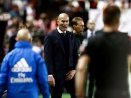 Zidane was very angry by his team's lack of commitment. AFP