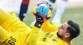 AC Milan goalkeeper Gianluigi Donnarumma has tested positive. AFP