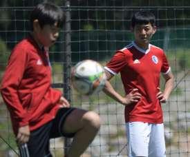 Son Heung-yun is a coach of SON Football Academy in Chuncheon. AFP