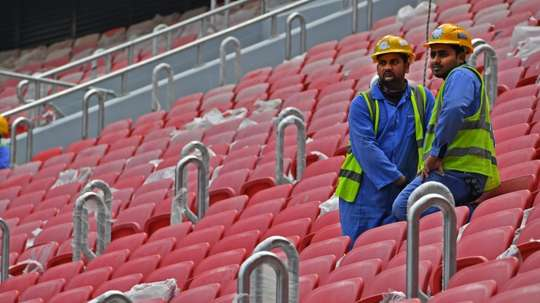Three workers on the Qatar World Cup stadia have got COVID-19. AFP