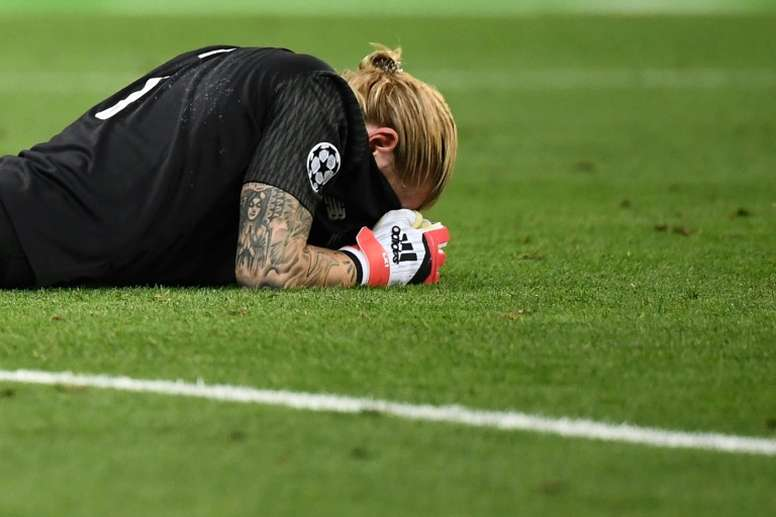 Karius has had a difficult few months, and it's not looking like it's going to improve soon. AFP