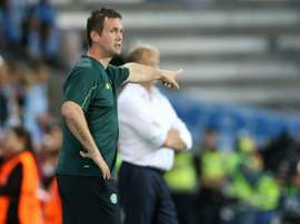 Celtics Norwegian head coach Ronny Deila reacts during a UEFA Champions League play-off second leg football match in Malmo, Sweden, on August 25, 2015