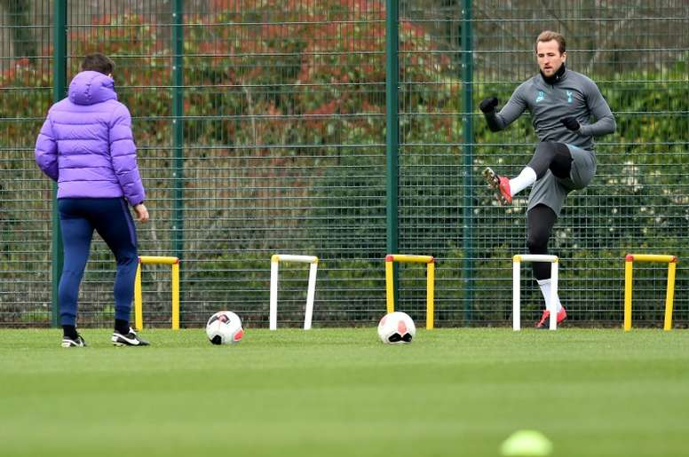 Harry Kane is getting ready to be fit for when the Premier League resumes. AFP