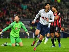 Son scored again. AFP