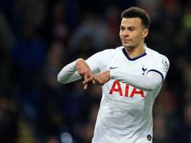 Dele Alli's penalty gave Tottenham a share of the spoils at Turf Moor. AFP