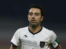 Xavi todavía no sabe lo que es ganar un trofeo desde que llegó a Catar. AFP