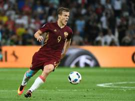 Russias forward Alexander Kokorin, pictured on June 11, 2016, had been completely ignored by Russia since manager Stanislav Cherchesov was appointed in August 2016