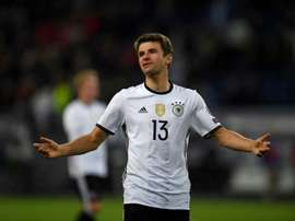 Thomas Mueller netted twice as Germany eased to an impressive 3-0 home win over the Czech Republic