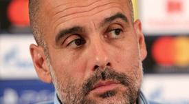 Guardiola no ve a su equipo preparado para ganar la Champions. AFP
