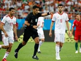 Irán evitó la victoria de Portugal. AFP
