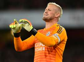 Schmeichel is out to hurt his idol. AFP