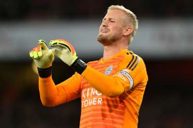 Schmeichel, Leicester's life insurance. AFP