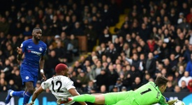 Kepa made a string of impressive saves as Chelsea held on against Fulham. AFP