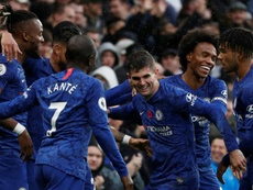 Chelsea up to second as Tottenham falter once more. AFP