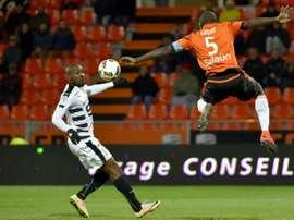 Sio a marqué le seul but du match contre Lorient. AFP