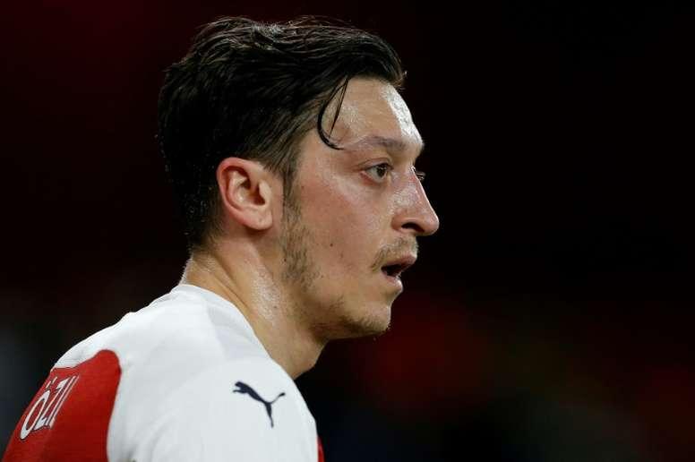 Özil se mostró preparado para volver a jugar. AFP
