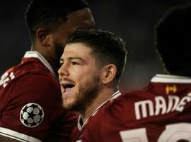 Moreno spoke to the press after Liverpool made it to the final. AFP