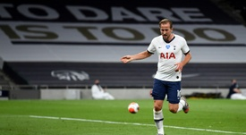 Harry Kane got his first goal of 2020 for Spurs in the win over West Ham. AFP
