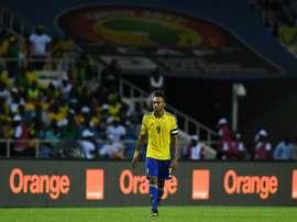 Aubameyang, entre los tres finalistas al Balón de Oro Africano. AFP