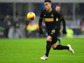 Lautaro negocia renovação com a Inter de Milão. AFP