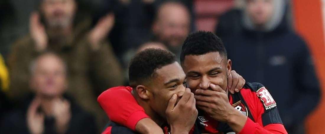 El Bournemouth salvó un punto al final. AFP