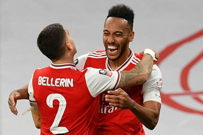 Arsenal beat Manchester City 2-0. AFP