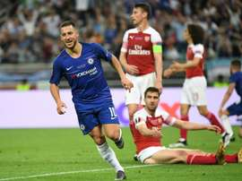 Hazard with two goals in final appearance. AFP