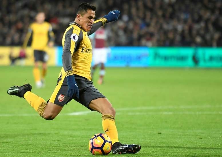 Sanchez is yet to sign a new contract with Arsenal. AFP